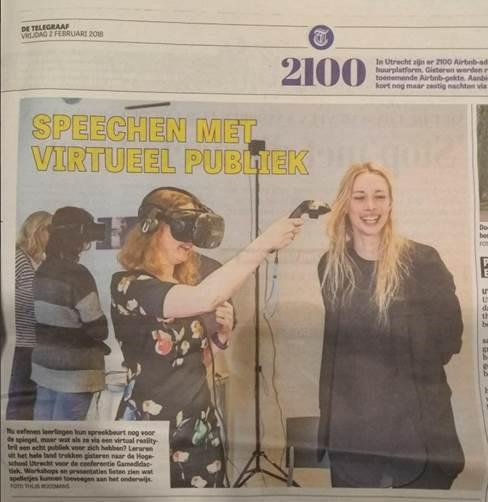 Telegraaf - 1 feb: Telegraaf edHUgames @ Universiteit van Utrecht